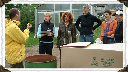 Rose potting seminar in Moscow ~ Russia